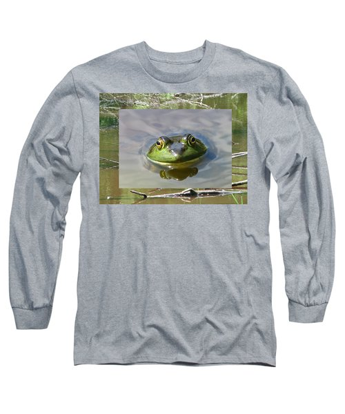 Bull Frog And Pond Long Sleeve T-Shirt