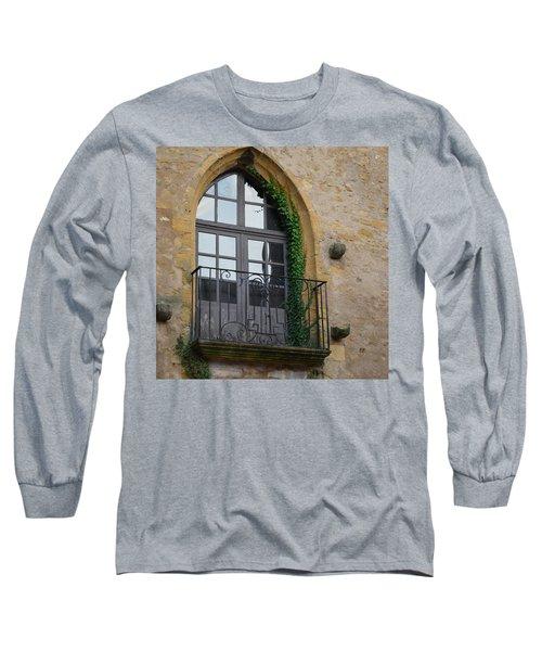 Burgundy Window Long Sleeve T-Shirt