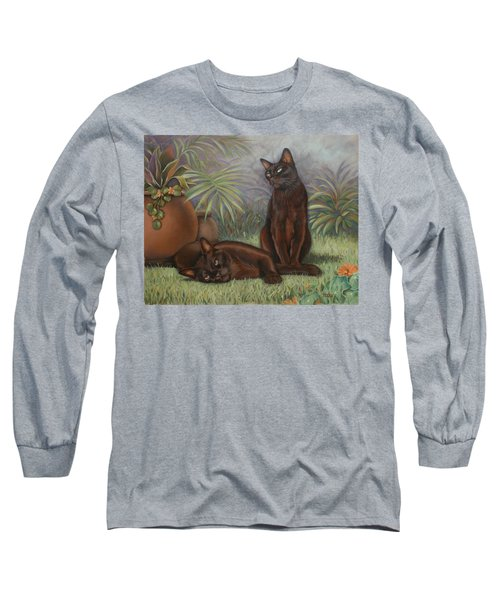 Long Sleeve T-Shirt featuring the painting Burmese Beauty by Cynthia House