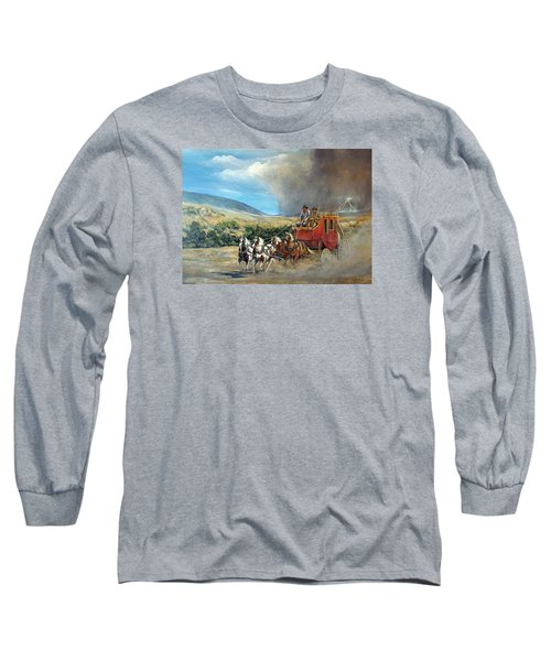 Long Sleeve T-Shirt featuring the painting Business As Usual by Donna Tucker