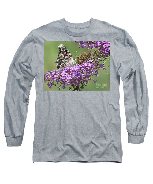 Long Sleeve T-Shirt featuring the photograph Painted Lady Butterfly by Eunice Miller