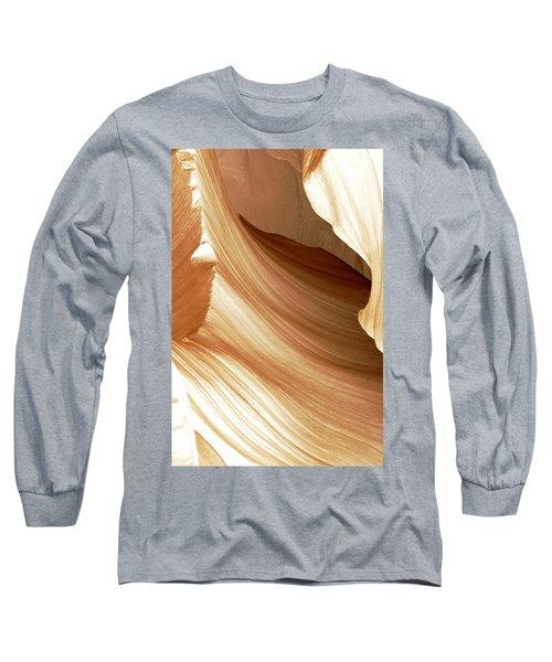 Butterscotch Taffy Antelope Canyon Long Sleeve T-Shirt