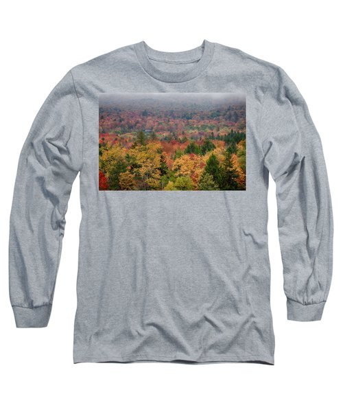 Cabin In Vermont Fall Colors Long Sleeve T-Shirt