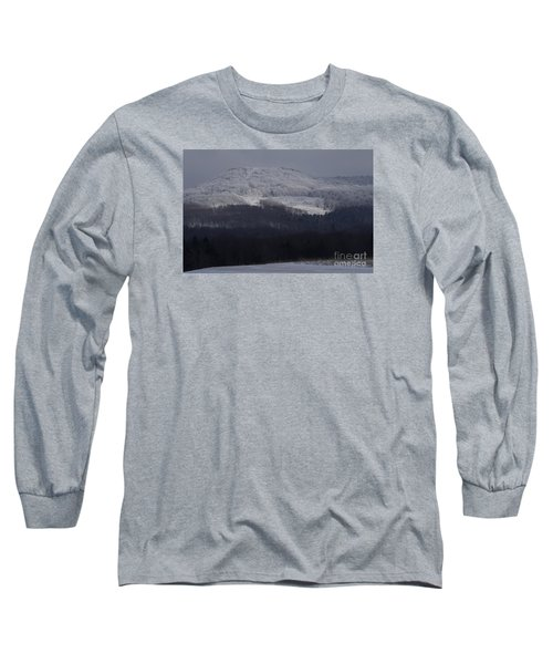 Cabin Mountain Long Sleeve T-Shirt by Randy Bodkins
