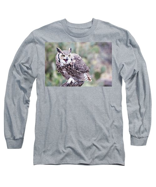 Long Sleeve T-Shirt featuring the photograph Call Of The Owl by Dan McManus