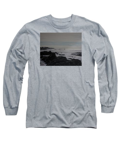 Long Sleeve T-Shirt featuring the painting Cambria Tidal Pools by Ian Donley