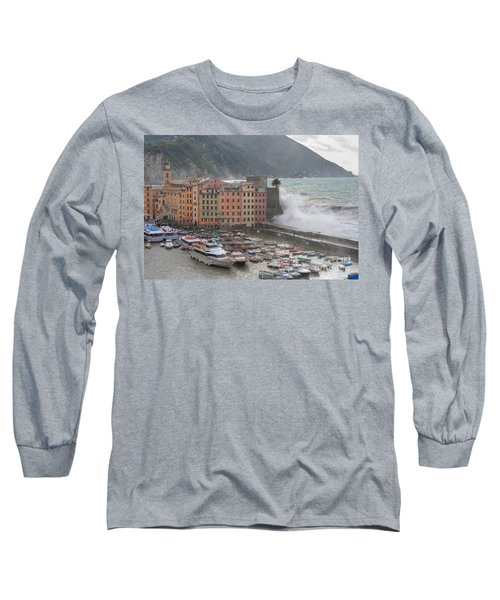 Long Sleeve T-Shirt featuring the photograph Camogli Under A Storm by Antonio Scarpi