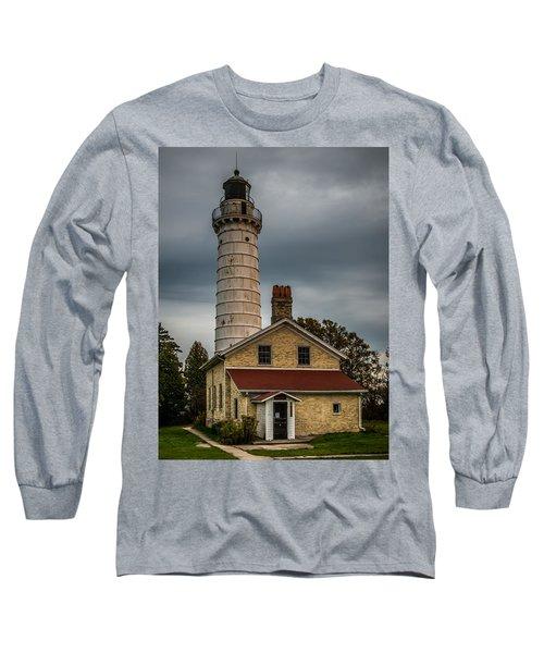 Cana Island Lighthouse By Paul Freidlund Long Sleeve T-Shirt
