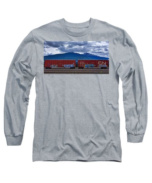 Canadian Freight Train In Jasper Long Sleeve T-Shirt