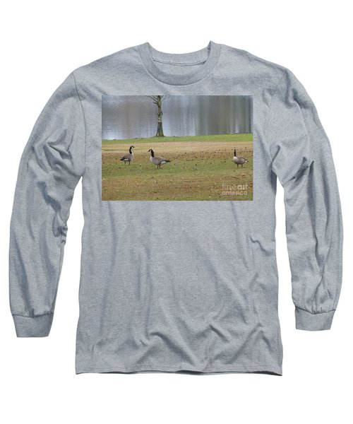 Canadian Geese Tourists Long Sleeve T-Shirt