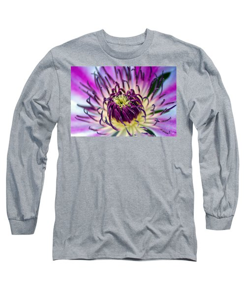 Candy Stripe Clematis Long Sleeve T-Shirt