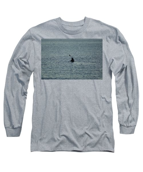 Long Sleeve T-Shirt featuring the photograph Canoeing In The Florida Riviera by Rafael Salazar