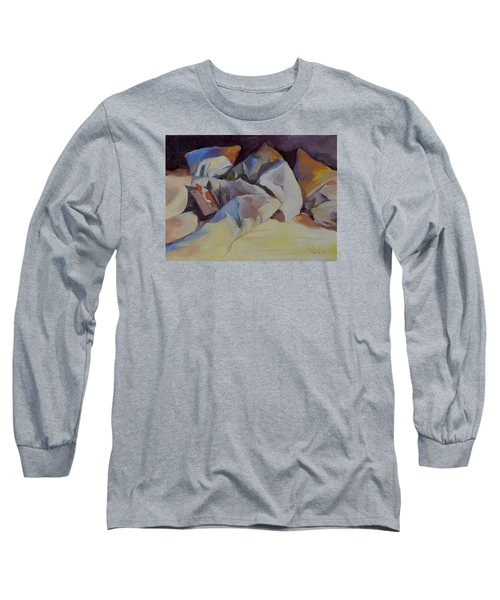 Can't Put It Down Long Sleeve T-Shirt by Pattie Wall