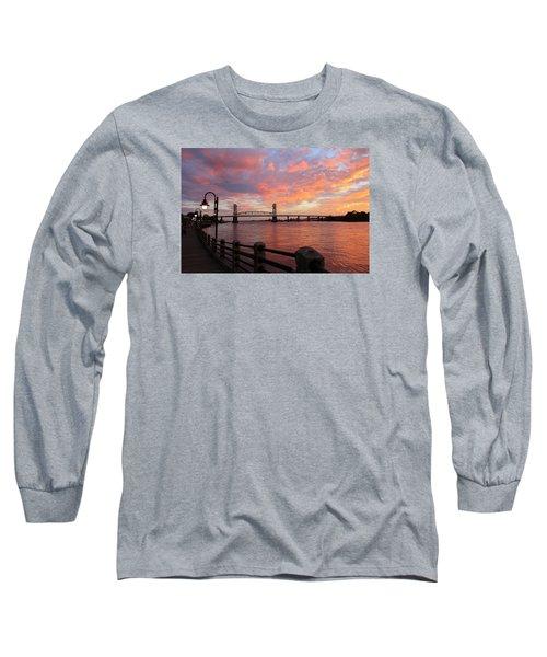 Long Sleeve T-Shirt featuring the photograph Cape Fear Bridge by Cynthia Guinn