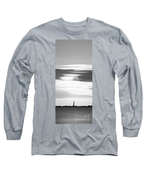 Cape May Lighthouse Vertical Long Exposure Bw Long Sleeve T-Shirt