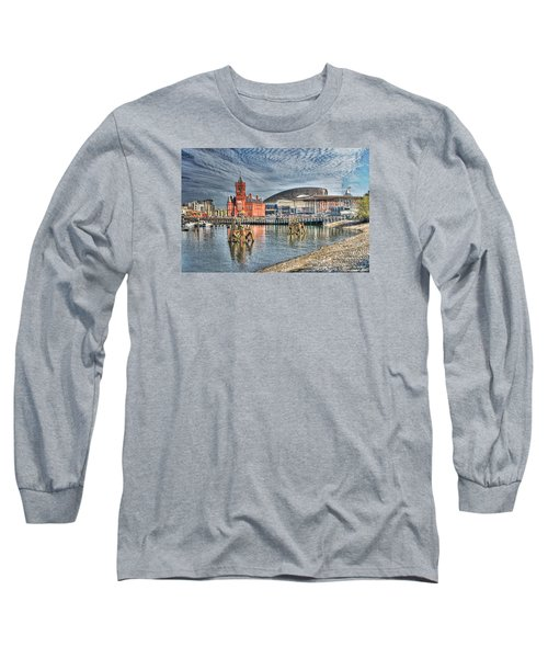 Cardiff Bay Textured Long Sleeve T-Shirt by Steve Purnell