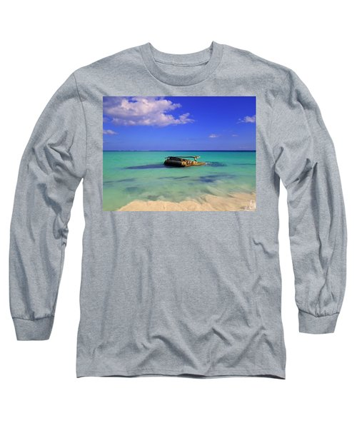 Long Sleeve T-Shirt featuring the photograph Caribbean Colors  by Eti Reid