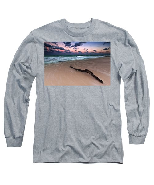 Long Sleeve T-Shirt featuring the photograph Caribbean Sunset by Mihai Andritoiu