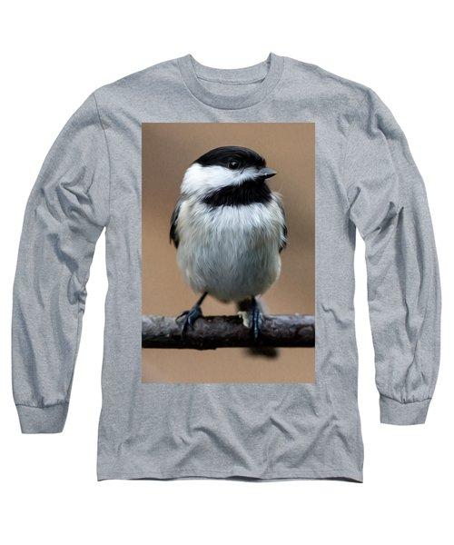Long Sleeve T-Shirt featuring the painting Carolina Chickadee by John Haldane