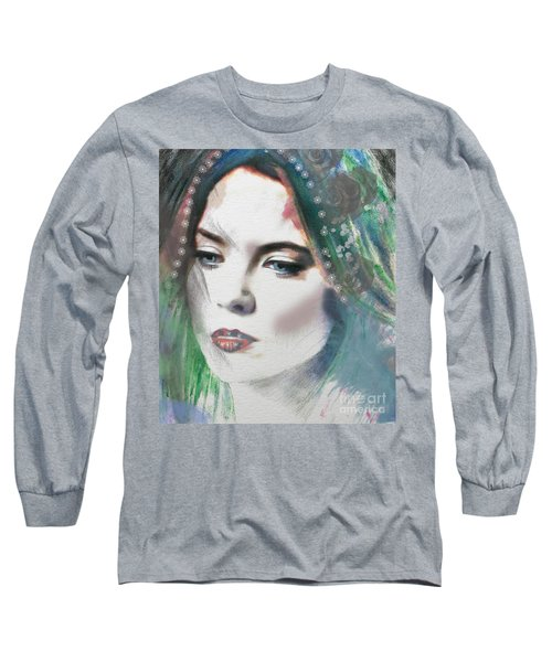 Carrie Under Veil Long Sleeve T-Shirt by Kim Prowse