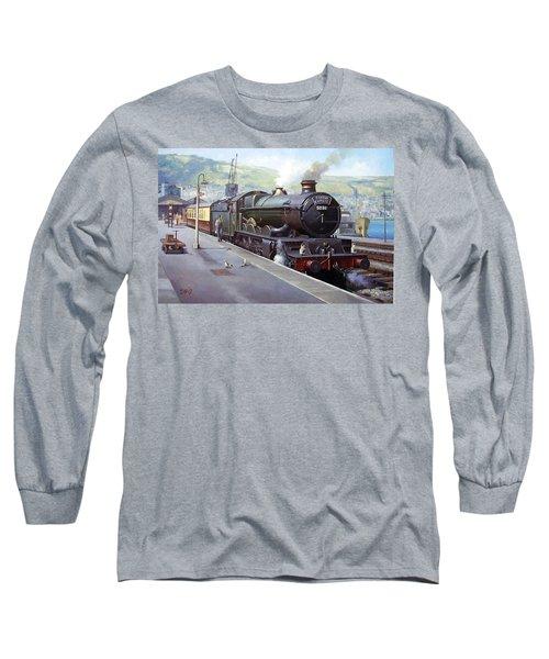 Castle At Kingswear 1957 Long Sleeve T-Shirt