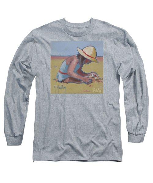 Castle Builder Beach Sand Castle Long Sleeve T-Shirt by Mary Hubley