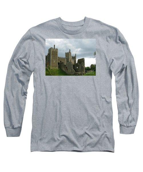 Castle Curtain Wall Long Sleeve T-Shirt by Ann Horn