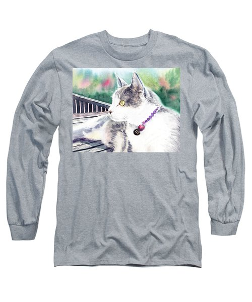 Cat Long Sleeve T-Shirt by Irina Sztukowski