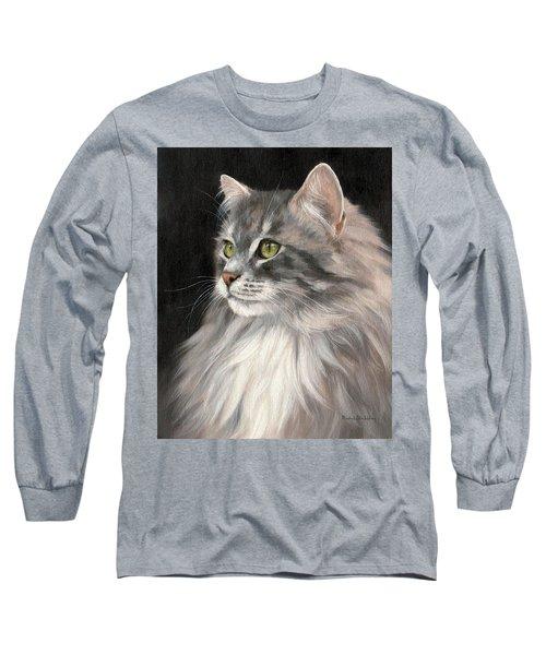 Cat Portrait Painting Long Sleeve T-Shirt