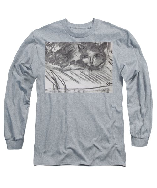 Cat Relaxing Long Sleeve T-Shirt
