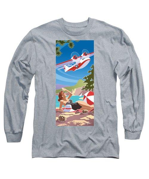 Catalina, Mid Century Travel Long Sleeve T-Shirt