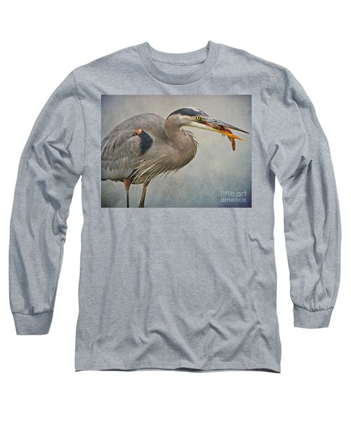 Catch Of The Day Long Sleeve T-Shirt by Heather King