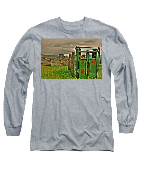 Long Sleeve T-Shirt featuring the photograph Cattle Chute by Sam Rosen