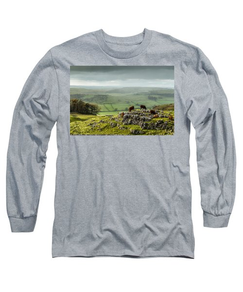 Cattle In The Yorkshire Dales Long Sleeve T-Shirt