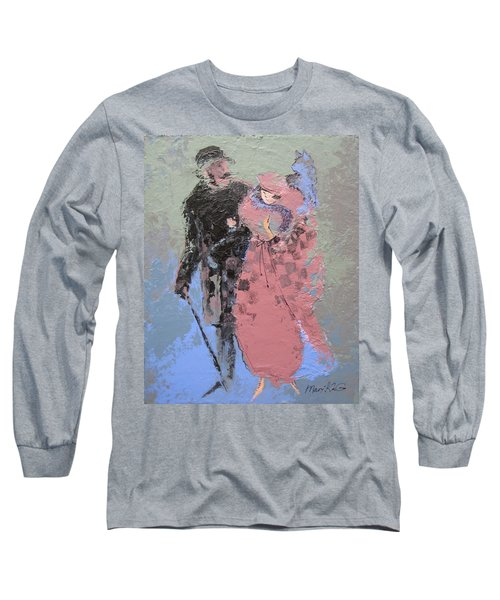 Long Sleeve T-Shirt featuring the painting Catwalk by Marina Gnetetsky