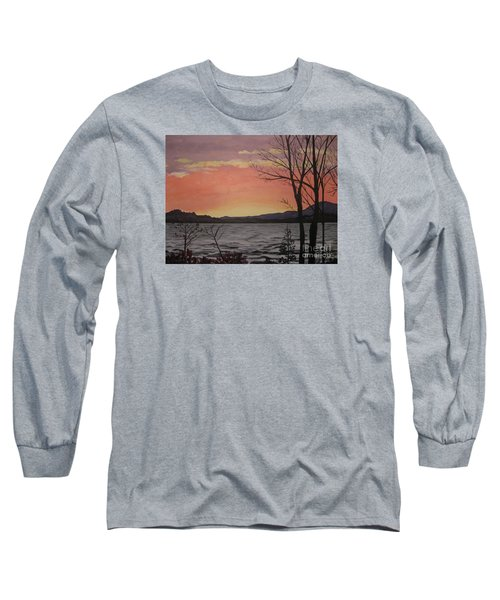 Caucomgomoc Lake Sunset In Maine Long Sleeve T-Shirt