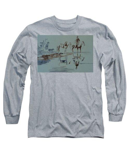 Cautious Creek Crossing Long Sleeve T-Shirt