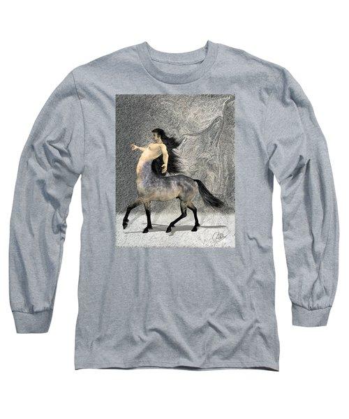 Centaur Long Sleeve T-Shirt by Quim Abella