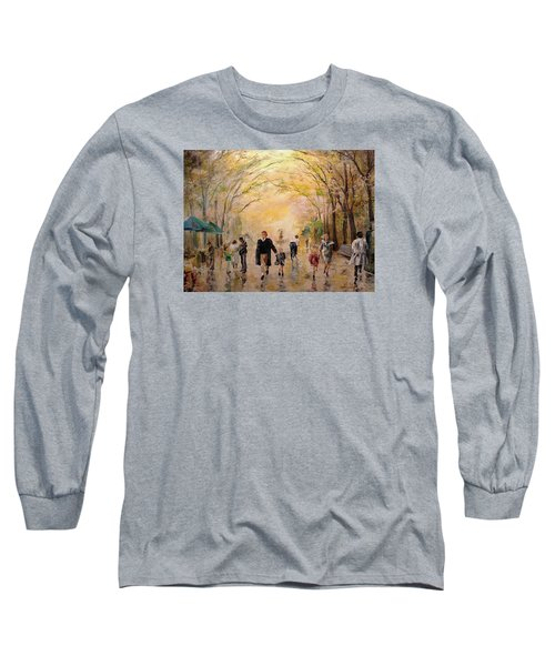 Central Park Early Spring Long Sleeve T-Shirt by Alan Lakin