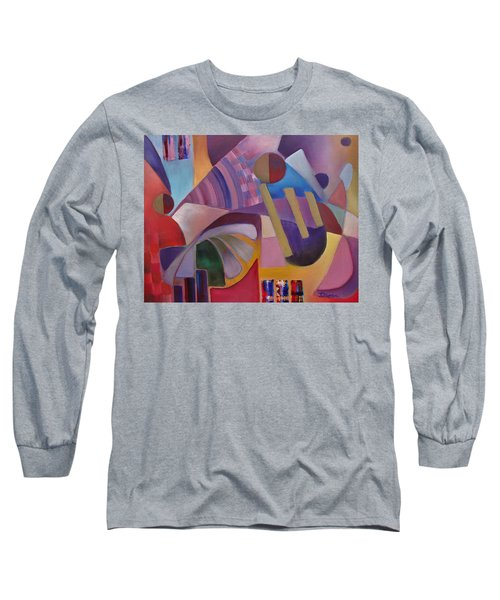 Long Sleeve T-Shirt featuring the painting Cerebral Decor by Jason Williamson