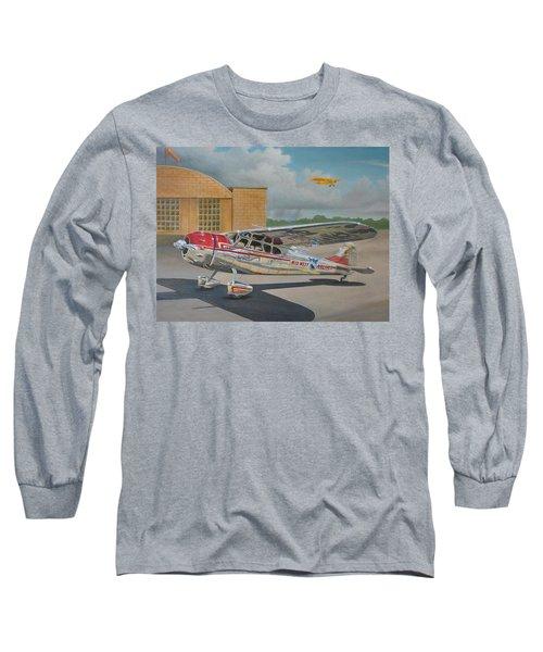 Cessna 195 Long Sleeve T-Shirt by Stuart Swartz