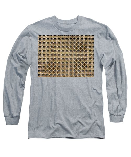 Long Sleeve T-Shirt featuring the photograph Chair Caning  by Sherman Perry