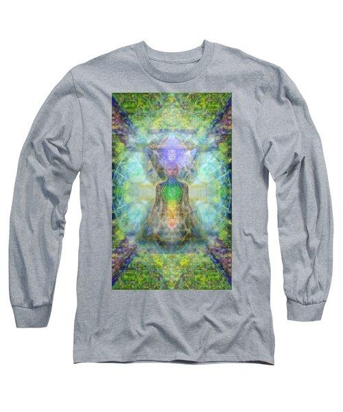 Chakra Tree Anatomy In Chalice Garden Long Sleeve T-Shirt