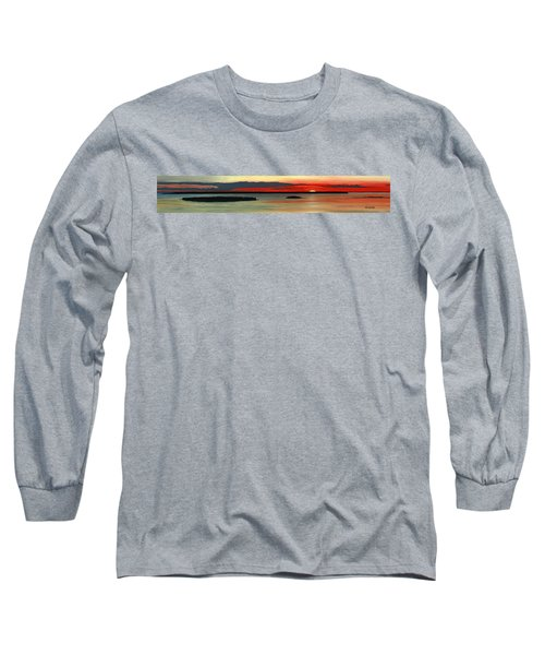 Chambers Island Sunset II Long Sleeve T-Shirt