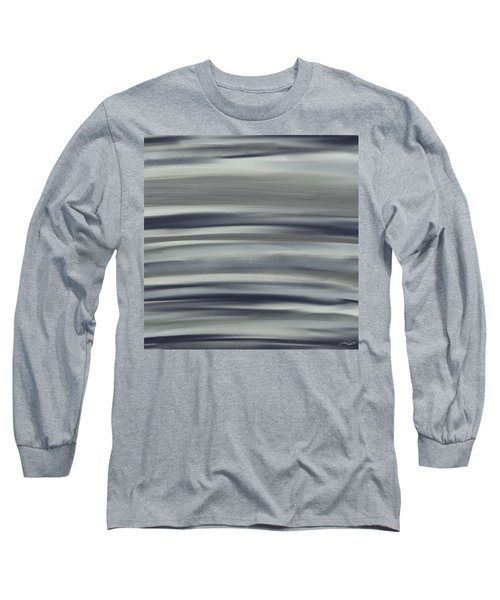 Charcoal And Blue Long Sleeve T-Shirt