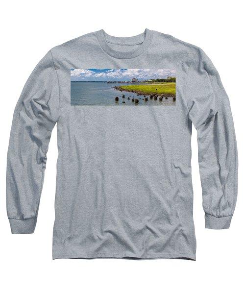 Long Sleeve T-Shirt featuring the photograph Charleston Harbor by Sennie Pierson