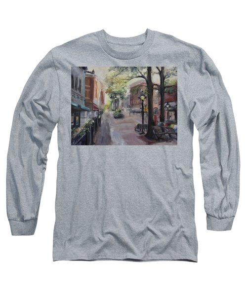 Charlottesville's Historic Downtown Mall Long Sleeve T-Shirt by Donna Tuten