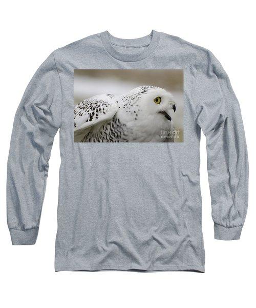 Cheeky Snow Owl Long Sleeve T-Shirt