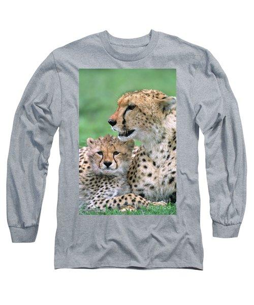 Cheetah Mother And Cub Long Sleeve T-Shirt