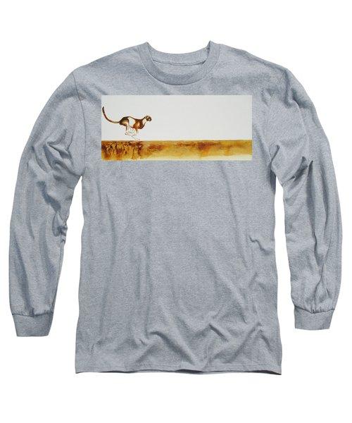 Cheetah Race - Original Artwork Long Sleeve T-Shirt